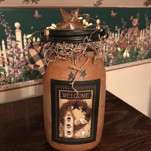 Fall Welcome Mason Jar